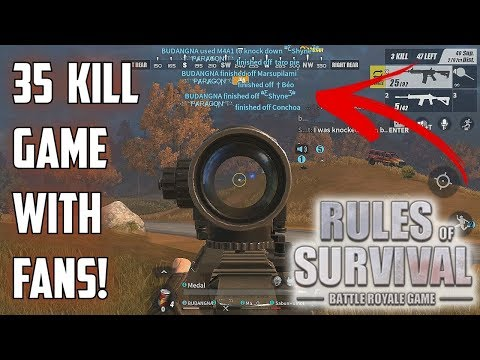 35 KILL GAME WITH FANS! - Rules of Survival: Battle Royale
