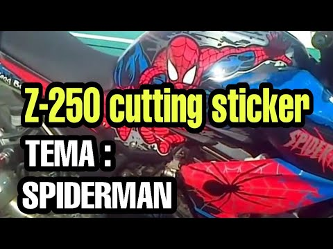 Cutting sticker z 250 spiderman by yosef sticker surabaya