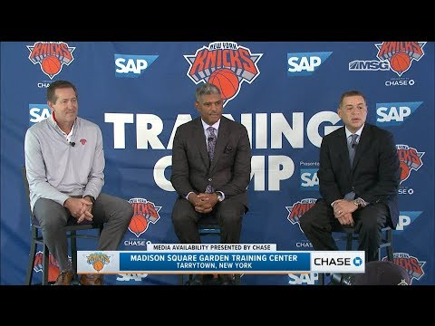 Steve Mills, Scott Perry, & Jeff Hornacek | New York Knicks Media Availability | MSG Networks