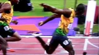 Usain Bolt Olympiasieger 5.8.2012  2.Yohann Blake  3. Justin Gatlin