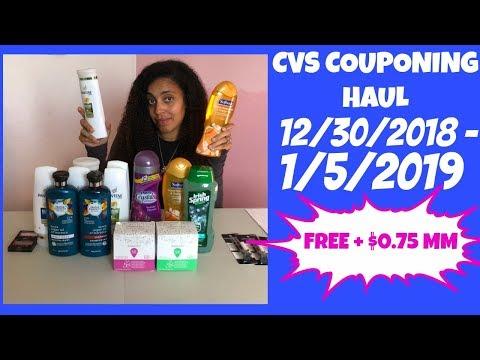 CVS COUPONING HAUL 12/30/2018 - 1/5/2019 | FREE + $0.75 MM