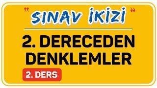 2. DERECEDEN DENKLEMLER  2.DERS  (2/3) - KARMAŞIK SAYILAR   ŞENOL HOCA