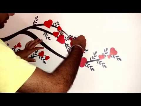 How to Apply Wall Stickers on The Wall (Self) 2016