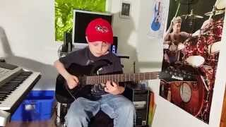 "Dustin Tomsen 10 years old covers Steve Vai "" For the love of God"""