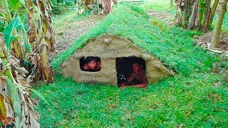 Upgrade underground house (​ Plant grass​ Protect rain )