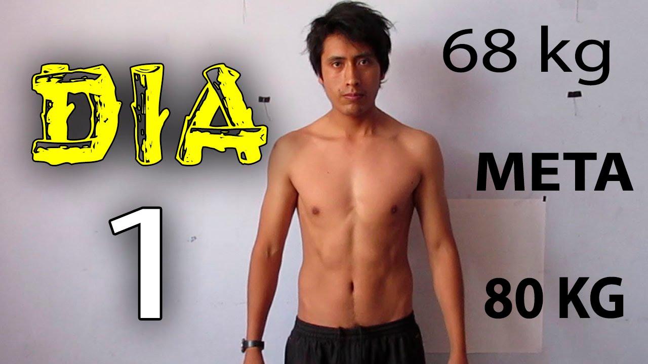 Como ganar masa muscular y subir de peso