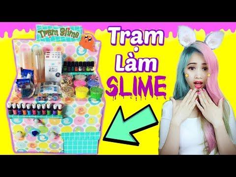 Hướng Dẫn Làm Trạm Slime Siêu Cute - Slime Station DIY
