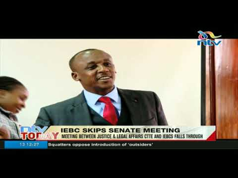 Meeting between justice & legal affairs CTTE, IEBC falls through