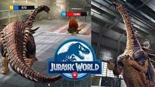 Гибрид Нодоапатозавр, Чарли и Спинозавр Jurassic World Alive