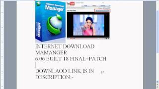 INTERNET DOWNLOAD MANAGER 6.05 BUILT 18 FINAL+PATCH 2011 NEW download link