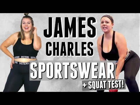 Brutally Honest Review of James Charles' Sisters Sportswear! (leggings squat test)