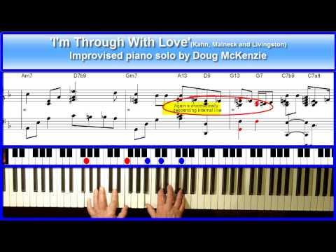 'I'm Through With Love' - Jazz piano Tutorial
