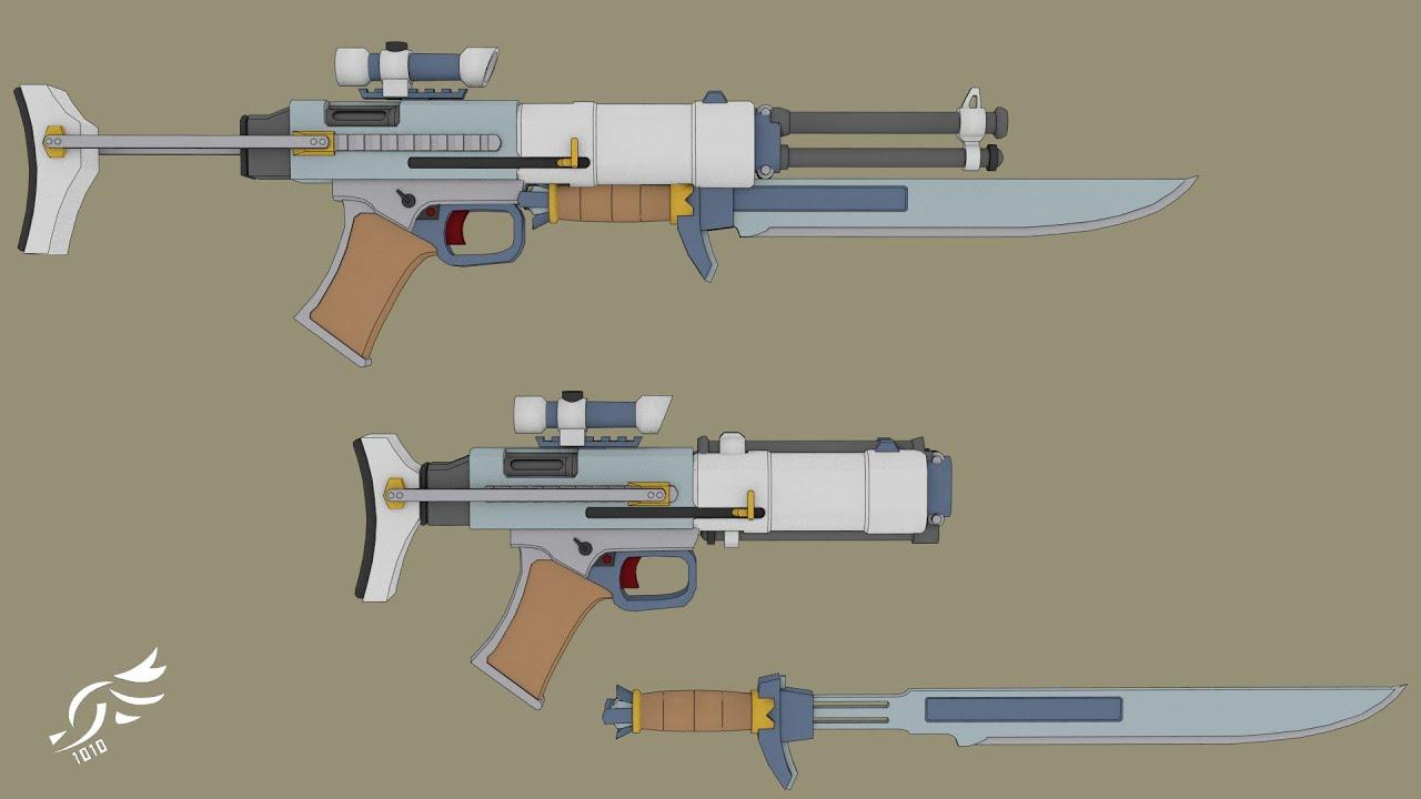 'Raffinert Renser' - RWBY OC Weapon (Commission)