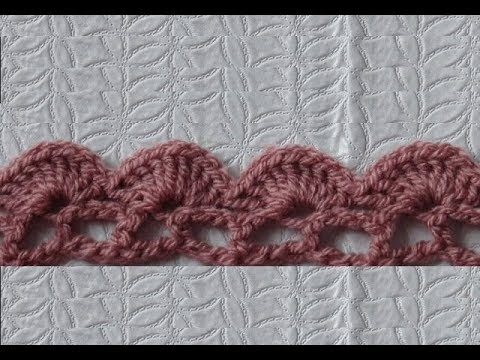 How To Crochet The Edge Border Stitch Pattern 130by