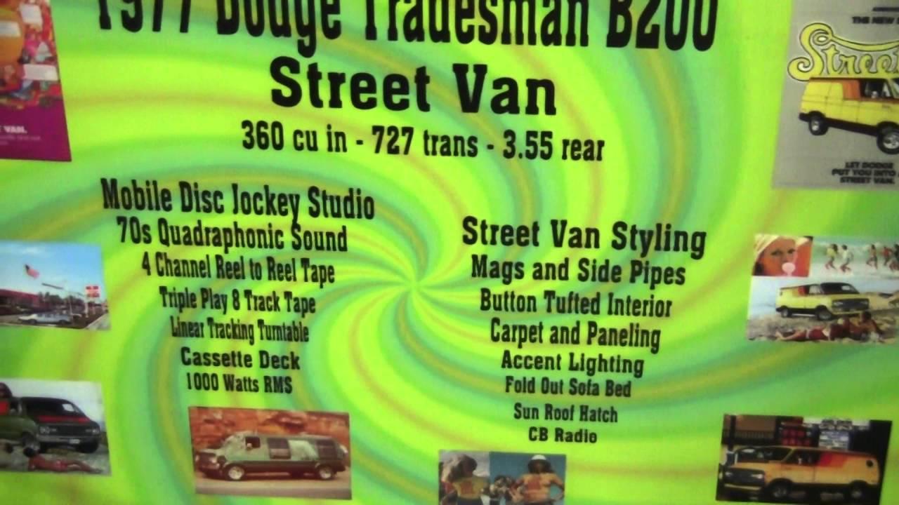 "Detroit Autorama: ""Flashback"" 1977 Dodge Tradesman Van"