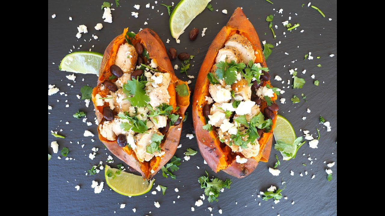 Dinner Recipe Mexican Style Stuffed Sweet Potato By Everyday Gourmet With Blakely Youtube