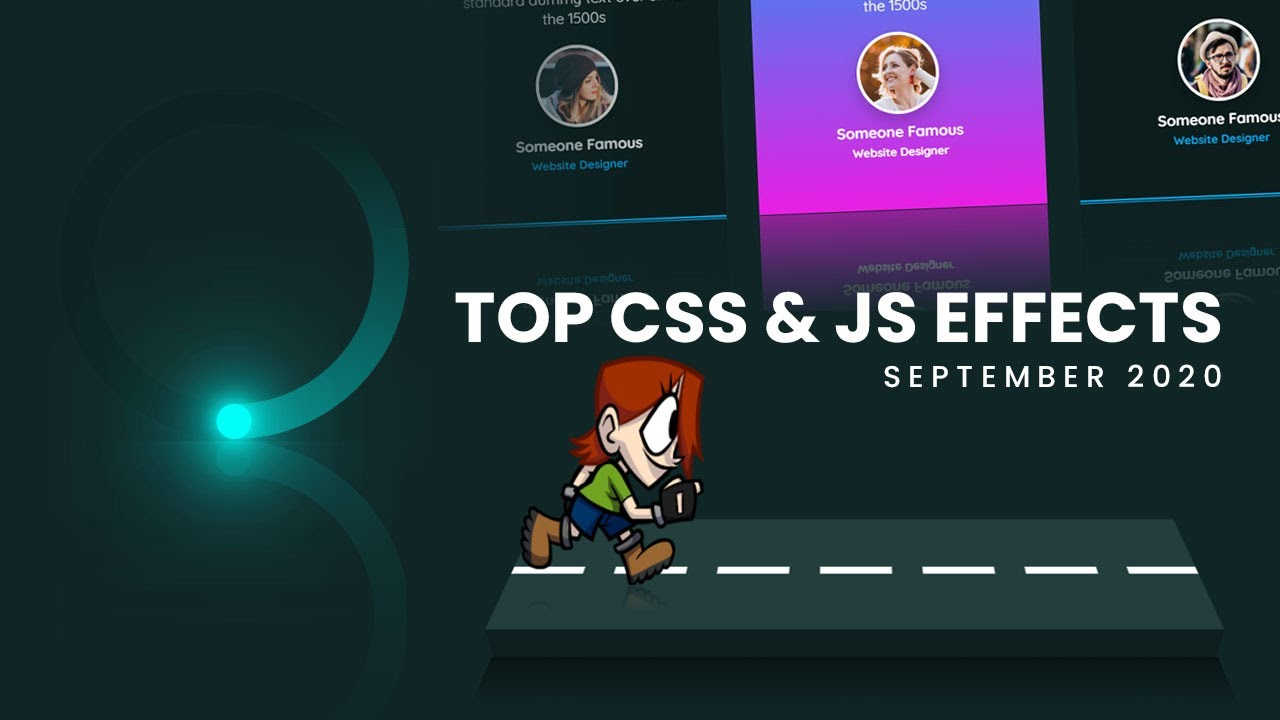 Top CSS & JavaScript Animation & Hover Effects | September 2020