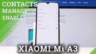 How to Copy Contacts on XIAOMI Mi A3 - Manage Contacts