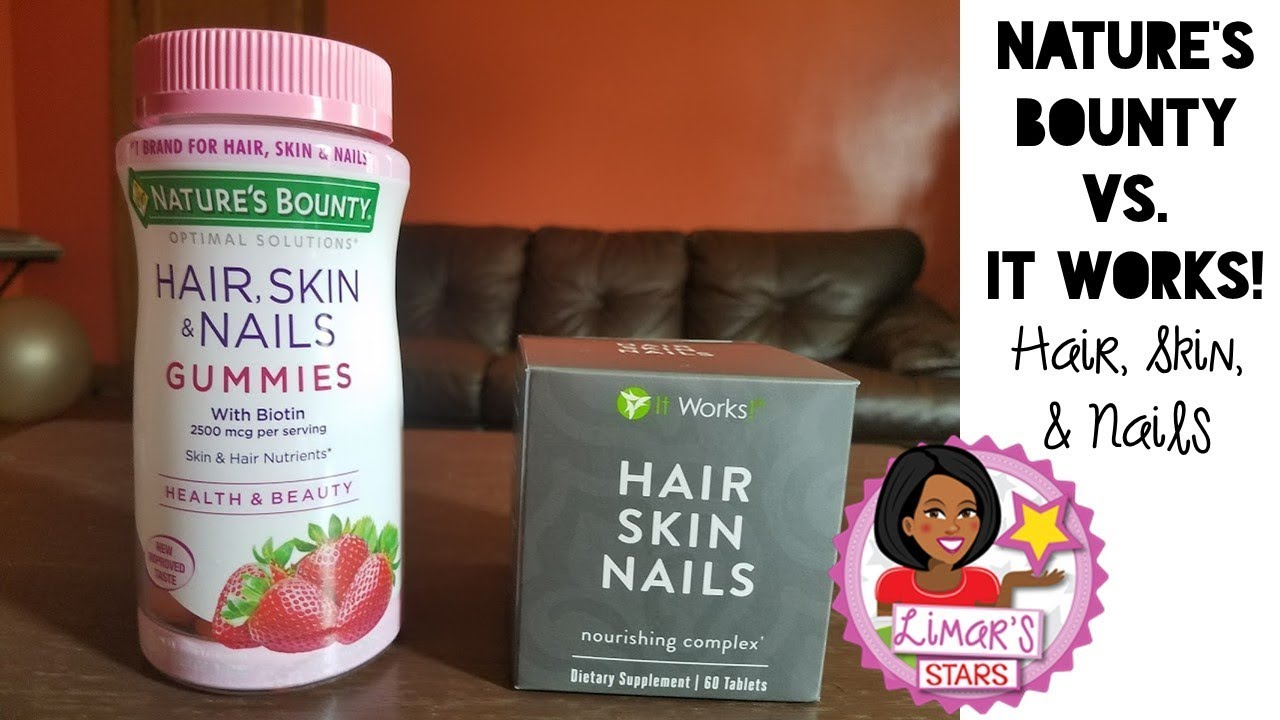 Nature\'s Bounty vs. It Works! Hair, Skin & Nails - YouTube