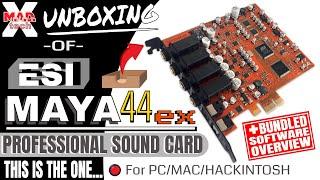 ESI MAYA44ex PCIe Professional Sound Card Unboxing