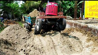 Mahindra 585 di power plus Tractor with fully loaded trolley   Mahindra tractor power   CFV