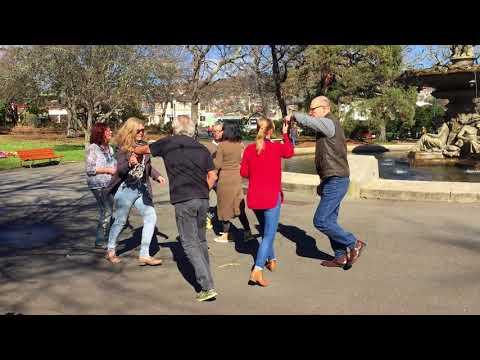 Salsa dancing in Princes Square