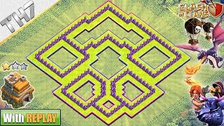 New Epic TH7 HYBRID/TROPHY[defense] Base 2018 with REPLAY - Clash of Clans