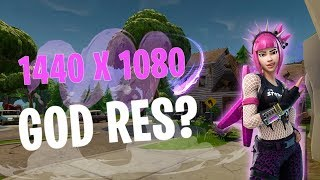 How to get god res in fortnite! [1440x1080]