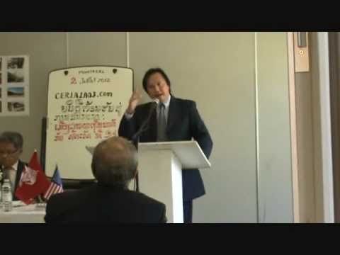 Speech of Dr Khampheo Phiphak at Lao Conference in Montreal, Canada