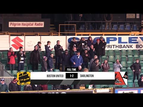 Boston United 1-2 Darlington - Vanarama National League North - 2016/17
