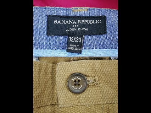 Banana Republic Man's twill long pant spandex