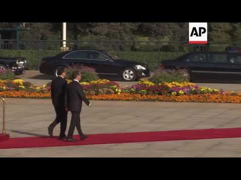 China Premier Li welcomes Russia's Medvedev in Beijing