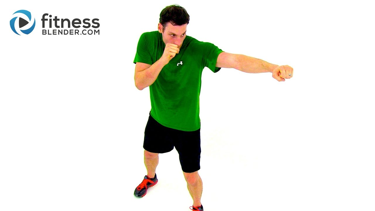 Fat Blasting At Home Cardio Kickboxing Workout Video by Fitness Blender