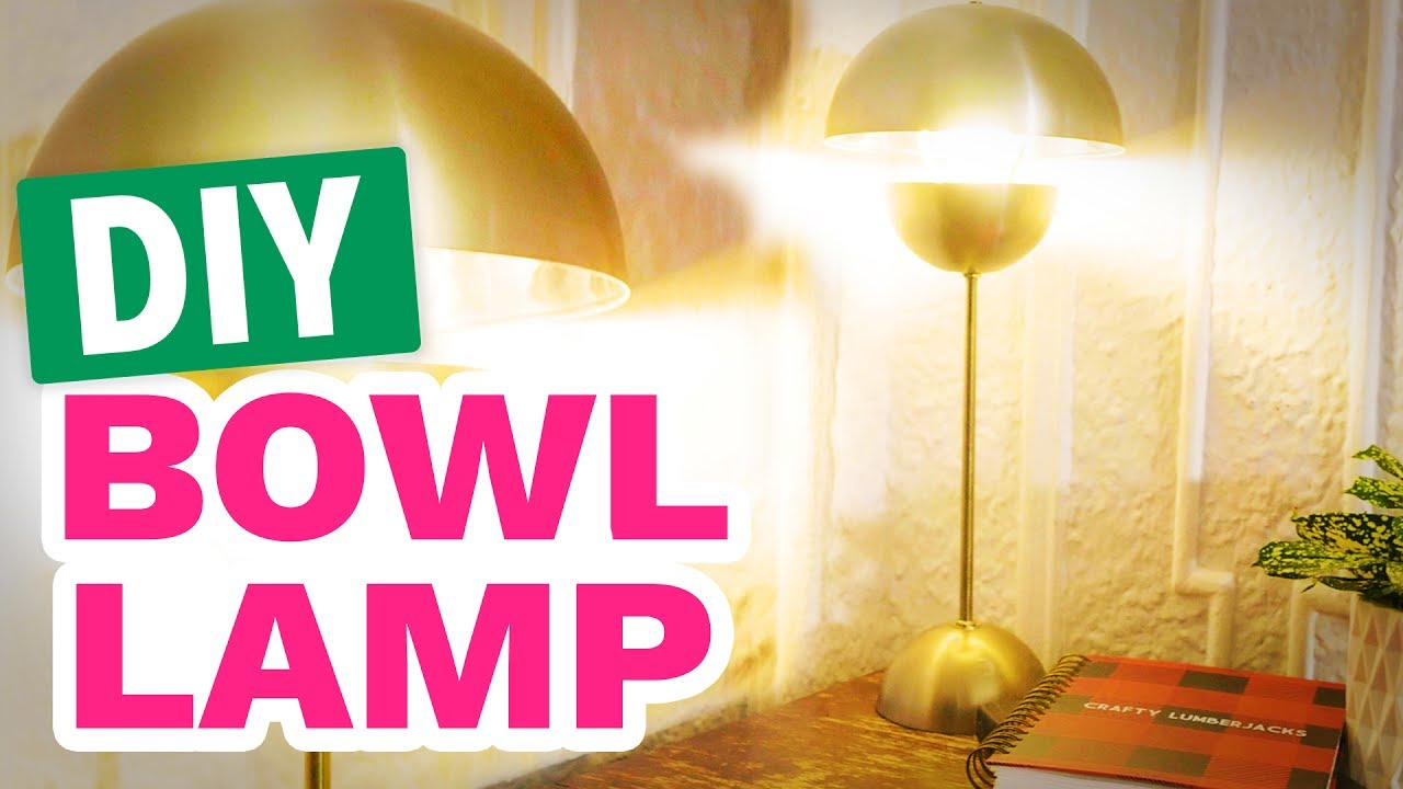 Diy Mid Century Modern Bowl Lamp Hgtv Handmade