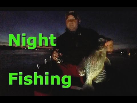 Night ice fishing giant crappie youtube for Ice fishing youtube