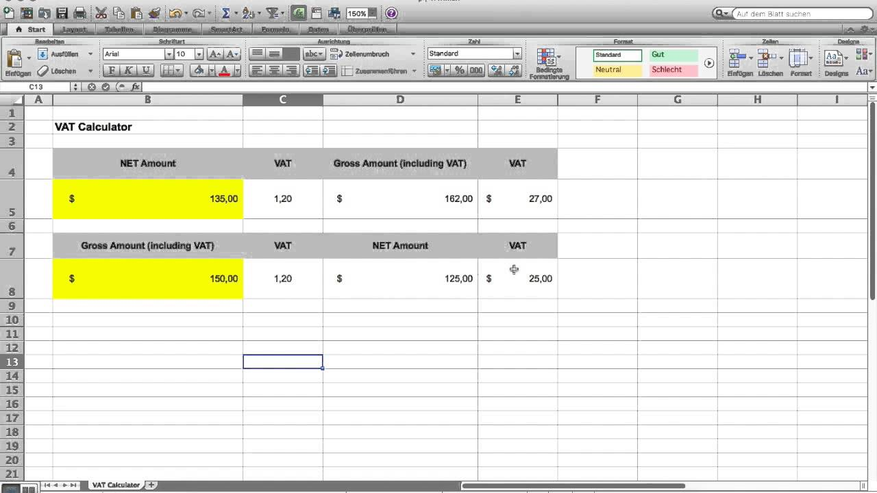 how to make a vat calculator in microsoft excel     free