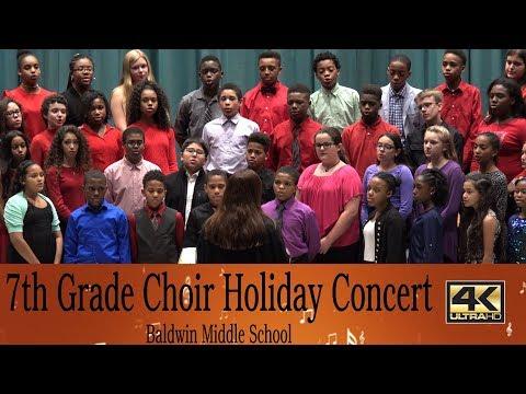 7th Grade Choir Holiday Concert,Barbara M. Raniere, Director , Baldwin Middle School
