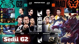 G2 Esports vs Mad Lions - Game 2 | Semi Final PlayOffs S10 LEC Spring 2020 | G2 vs MAD G-2