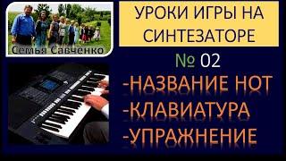 Как играть на синтезаторе №02 / Научиться играть на синтезаторе / Алексей Савченко н