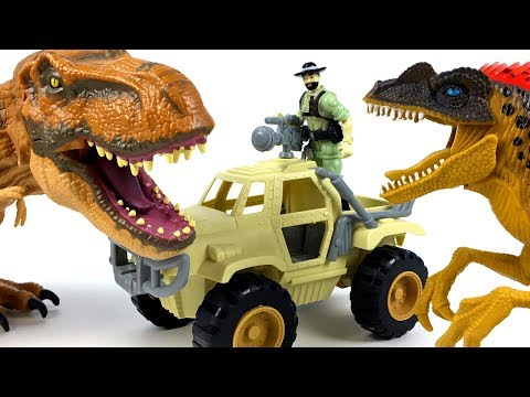 STORY WITH DINOSAURS  FROM ANIMAL PLANET & ADVENTURE WHEELS WITH TRICERATOPS VELOCIRAPTOR AND  T-REX