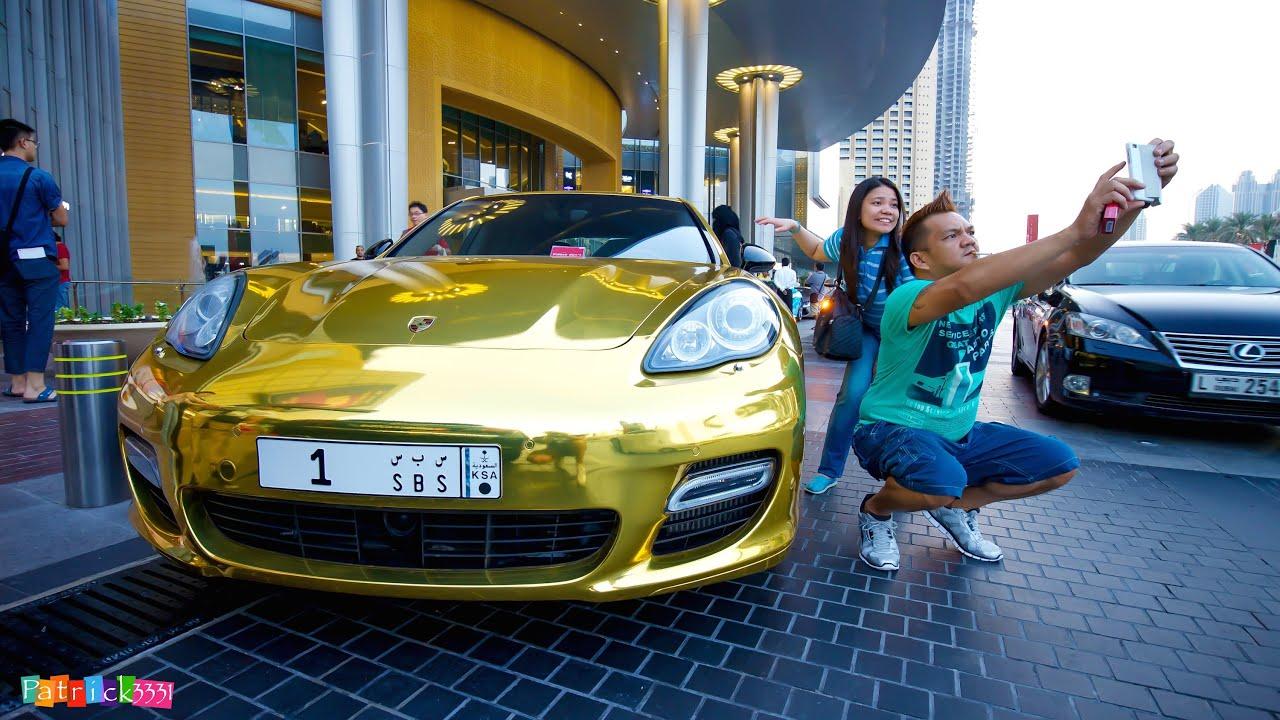 Gold Chrome Porsche Panamera Turbo Amp Extreme Selfie