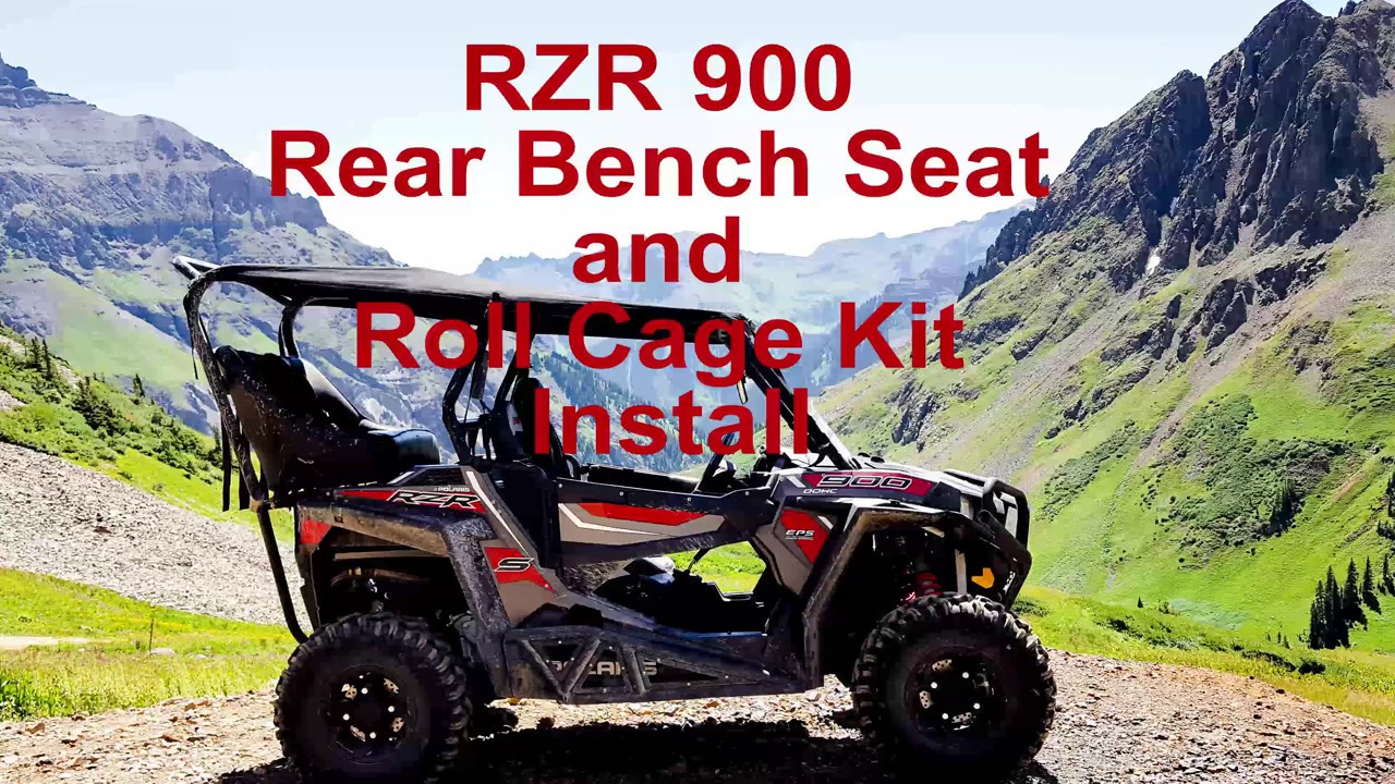 Utvma Rzr 900 Rear Bench Seat And Roll Cage Install Youtube