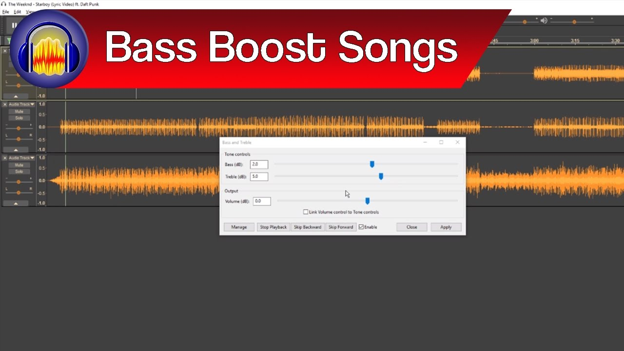 How to Bass Boost a Song in Audacity | Audacity Bass Boost ...