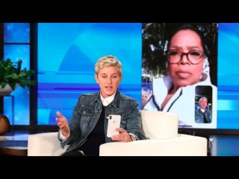 Ellen tears up and FaceTimes Oprah about 'catastrophic' California mudslides