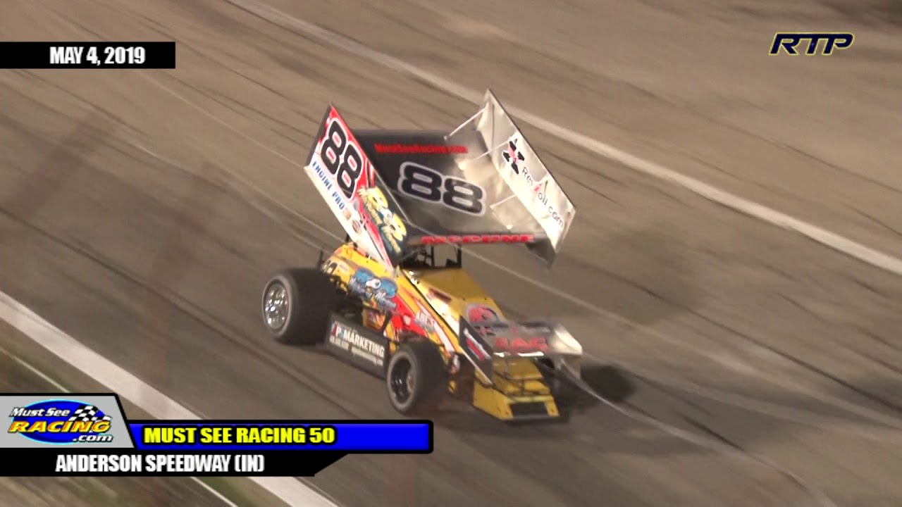 2019 Must See Racing Sprint Cars 50 At Anderson Speedway (IN) - HIGHLIGHTS