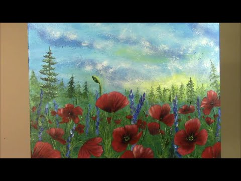 Learn To Paint Poppies Step By Step Painting With Wendy