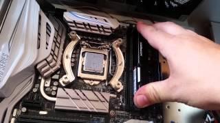 szybki montaż komputera podstawka lga 1151 z170 i7 6700k noctua nh d15
