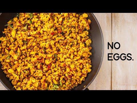 Eggless Bhurji Recipe – Tasty Veg Scrambled Anda Burji with No Eggs – CookingShooking