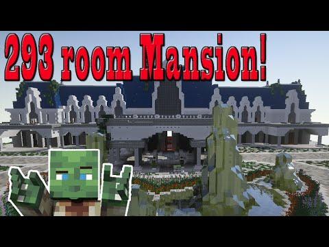 Minecraft 293 room mansion !