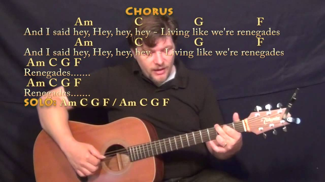 Renegades (X Ambassadors) Fingerstyle Guitar Cover Lesson in Am with  Chords/Lyrics